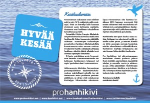 Pro Hanhikiven ilmoitus Pyhäjoen KesäKuulumisissa 14.6.2014